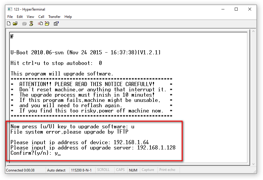 Восстановление прошивки видеорегистратора HiWatch DS-H108Q
